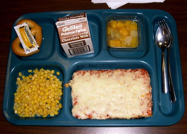 Elementary School Lunch Trays