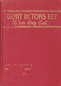 what-actors-eat-cookbook